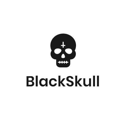 A skull with the word BlackSkull underneath