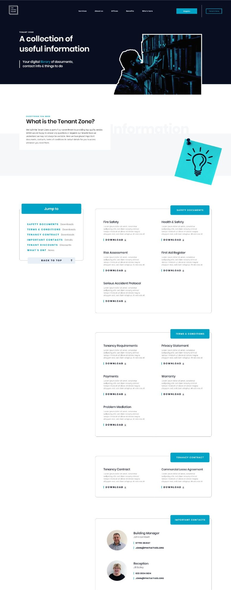 A wireframe of the OVOC website
